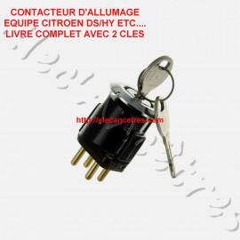 Contacteur d'allumage avec barillet et 2 clés CITROEN