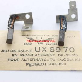 Balais Charbons DUCELLIER 22315 pour alternateur