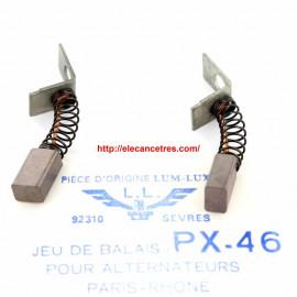 Balais Charbons PARIS RHONE 72597 pour alternateur