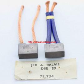 Balais Charbons PARIS RHONE 72734 pour démarreur