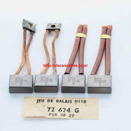 Balais Charbons PARIS RHONE 72624 pour démarreur