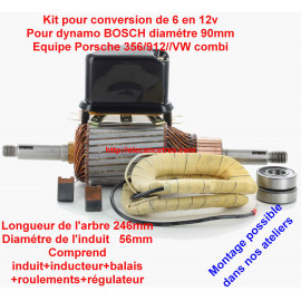 Induit dynamo BOSCH avec inducteur/régulateur/balais