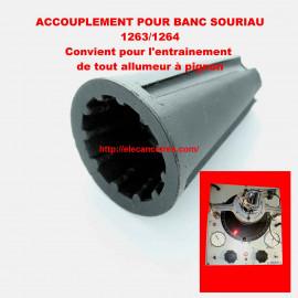 Accouplement standard pour banc allumeur SOURIAU 1263/1264 - modèle pignon