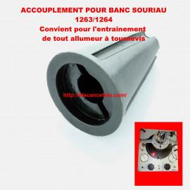 Accouplement standard pour banc allumeur SOURIAU 1263/1264 - modèle tournevis