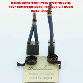 Balais Charbons DUCELLIER 606384 avec ressorts pour démarreur