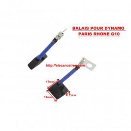 Balais Charbons PARIS RHONE 72598 pour dynamo