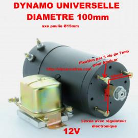 Dynamo universelle 12V pour AMILCAR ou autres véhicules