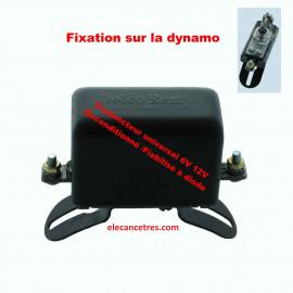 Conjoncteur dynamo DELCO REMY 6V/12V à 3 balais - Fixation sur la dynamo