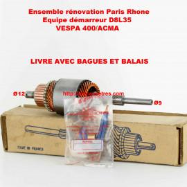 Induit démarreur PARIS RHONE pour VESPA 400