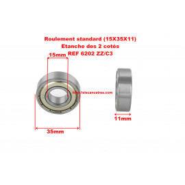Roulement 15x35x11 - SKF 6202 ZZ/C3