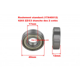 Roulement 17x40x12 - SKF 6203 ZZ