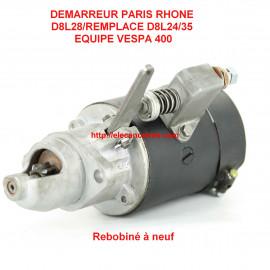 Démarreur PARIS RHONE D8L28 pour VESPA 400