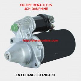 Démarreur DUCELLIER 6010 ou PARIS RHONE D8E 6V pour RENAULT