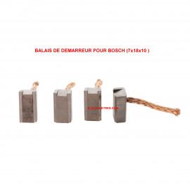 Balais Charbons BOSCH 2 007 014 026 pour démarreur