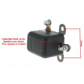 Conjoncteur dynamo 6V/12V fiabilisée par diode