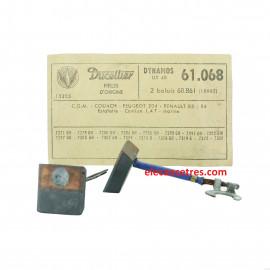 Balais Charbons DUCELLIER 61068 pour dynamo