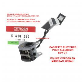 Rupteur cassette SEV GT double CITROEN SM / MASERATI