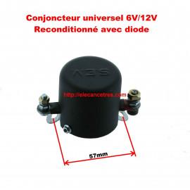 Conjoncteur dynamo 6V/12V à 3 balais pour CITROEN / PEUGEOT / RENAULT