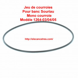 Courroie pour banc allumeur SOURIAU 1264 03/04/05