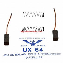 Balais Charbons DUCELLIER 16706 pour alternateur