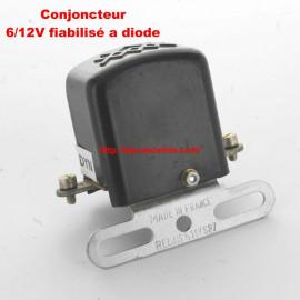 Conjoncteur dynamo 6V/12V à 3 balais Fixation sur tablier