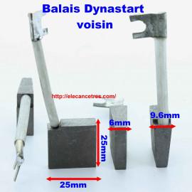 Balais Charbons VOISIN 9131 pour dynastart