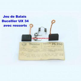 Balais Charbons DUCELLIER 75250 avec ressorts pour dynamo