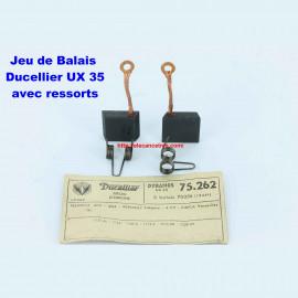 Balais Charbons DUCELLIER 75262 avec ressorts pour dynamo