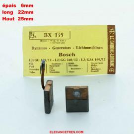 Balais Charbons BOSCH 1 107 014 128 pour dynamo