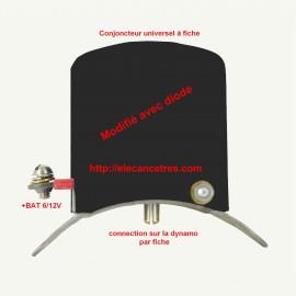 Conjoncteur dynamo 6V/12V à fiche fiabilisée par diode