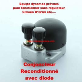 Conjoncteur dynamo 6V/12V en aluminium