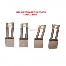 Balais Charbons BOSCH 2 007 014 006 pour démarreur