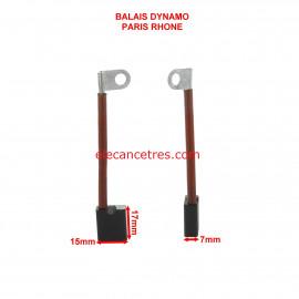 Balais Charbons PARIS RHONE 72601 pour dynamo