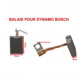 Balais Charbons BOSCH 1 107 014 138 pour dynamo