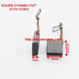 Balais Charbons FIAT 4042681 pour dynamo