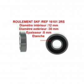 Roulement 12x30x8 - SKF 16101