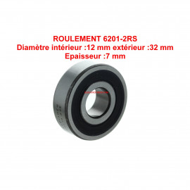 Roulement 12x32x7 - SKF 6201