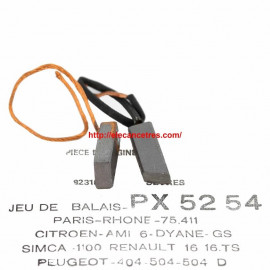 Balais Charbons PARIS RHONE 75411 pour alternateur